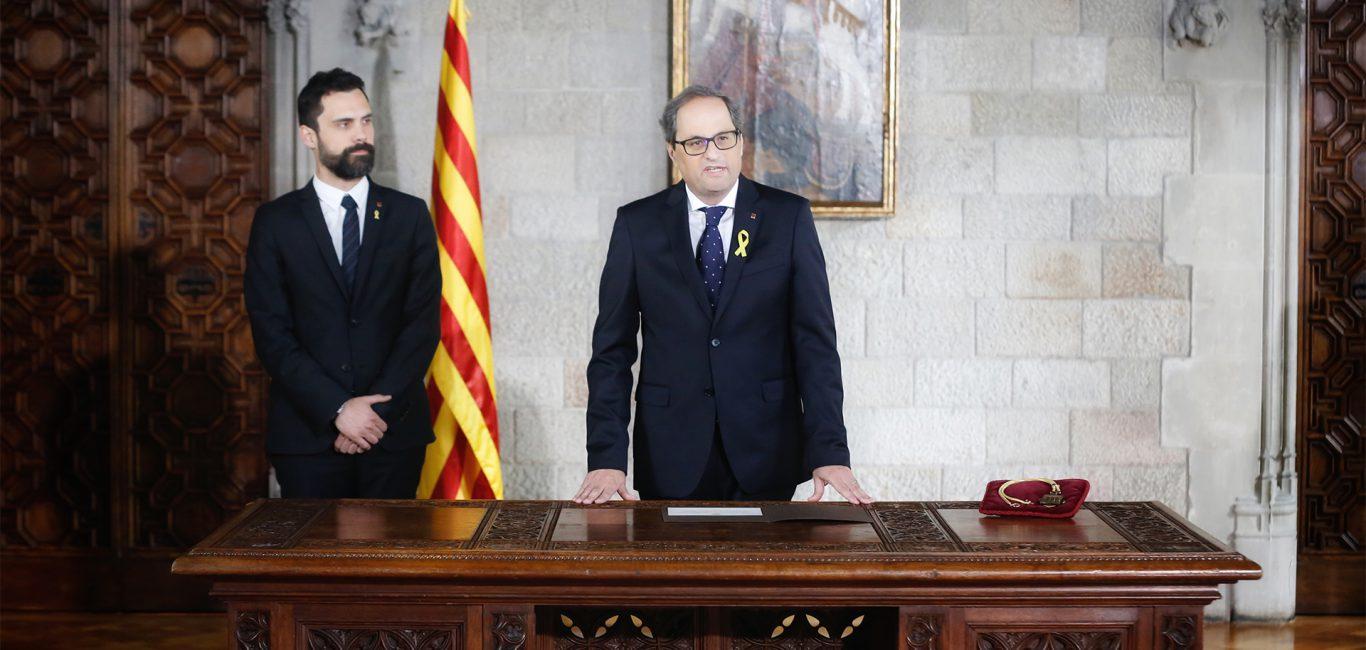 Quim Torra pren possessió com a 131è President de la Generalitat