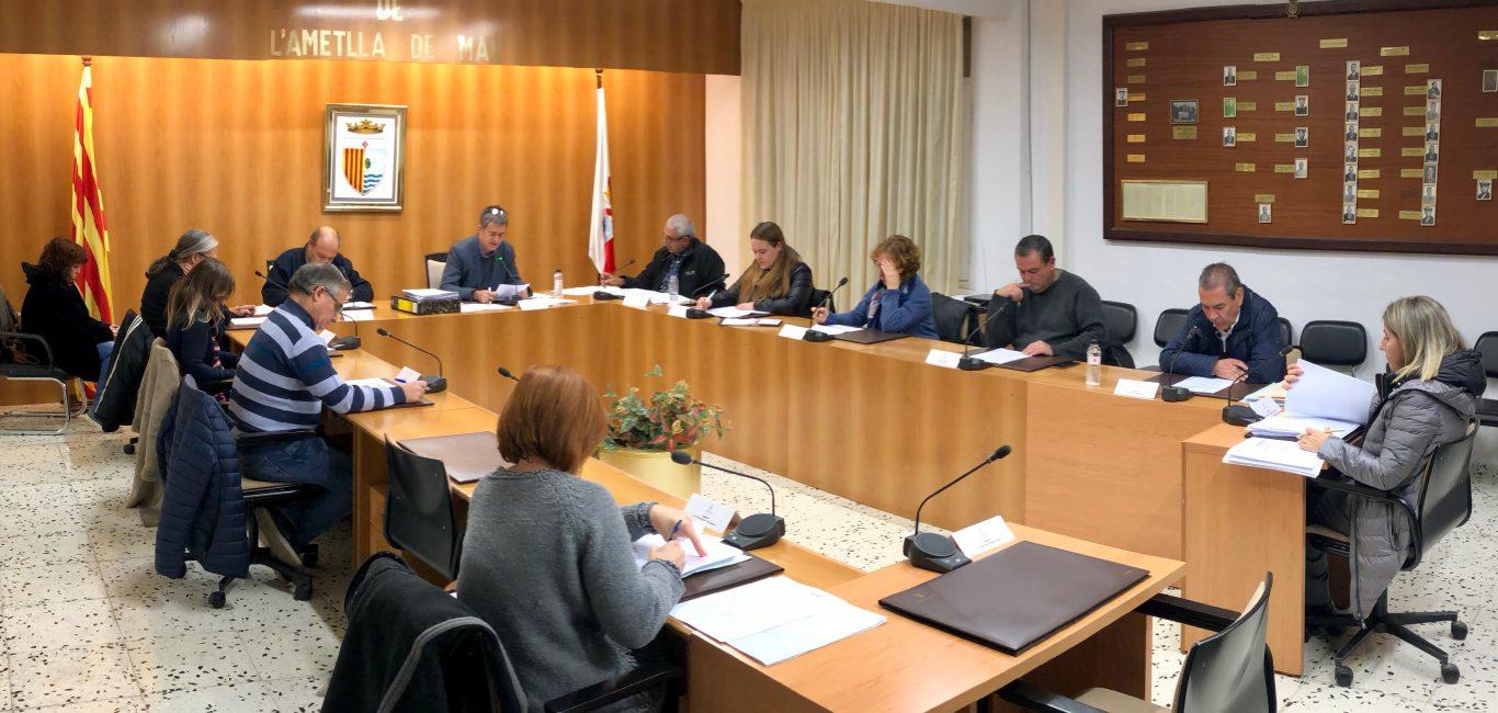 L'Ajuntament aprova els pressupostos pel 2019